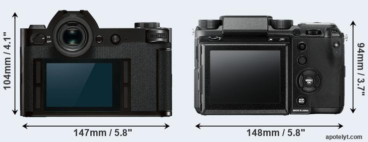 SL and GFX rear side