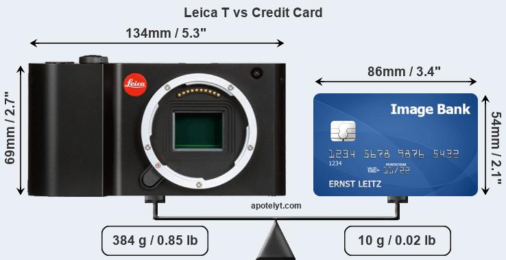Leica T vs credit card front