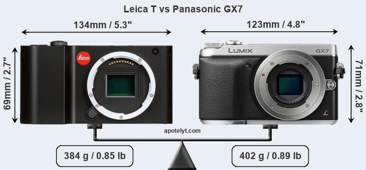 Compare Leica T and Panasonic GX7