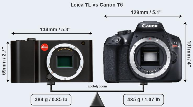 Compare Leica TL and Canon T6