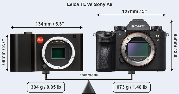 Size Leica TL vs Sony A9