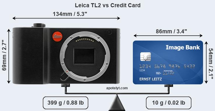 Leica TL2 vs credit card front