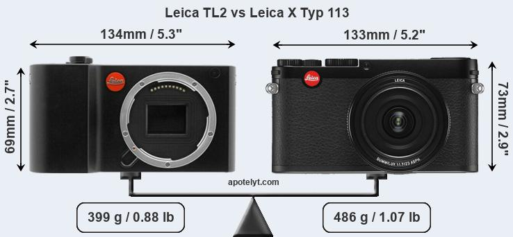 Leica TL2 vs Leica X Typ 113 front