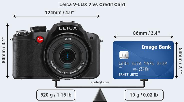 Leica V-LUX 2 vs credit card front
