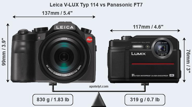Compare Leica V-LUX Typ 114 and Panasonic FT7