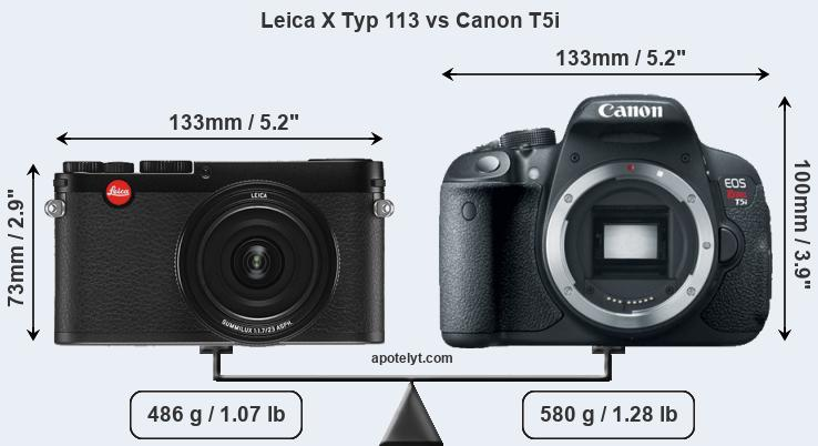 Compare Leica X Typ 113 and Canon T5i