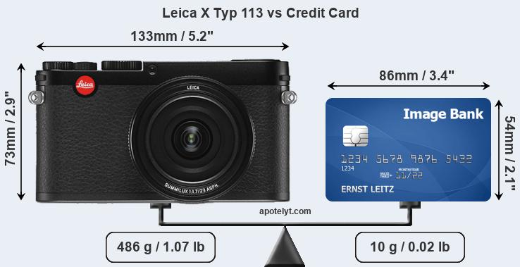 Leica X Typ 113 vs credit card front