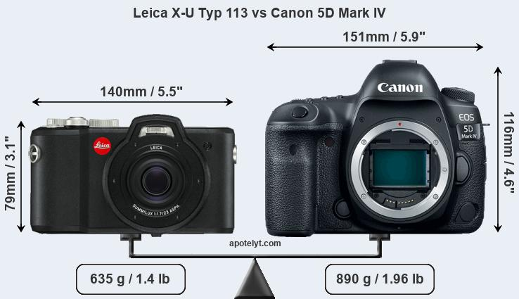 Compare Leica X-U Typ 113 and Canon 5D Mark IV