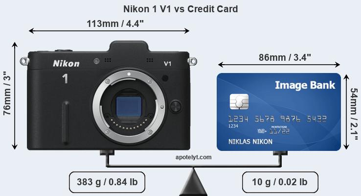Nikon 1 V1 vs credit card front