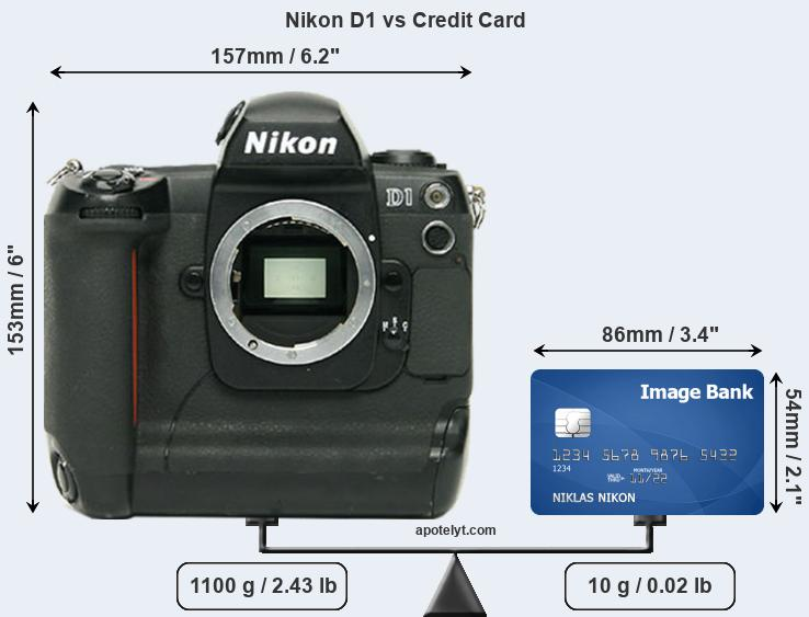Nikon D1 vs credit card front