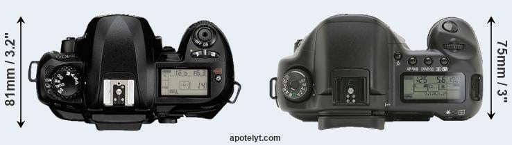 D100 versus 10D top view