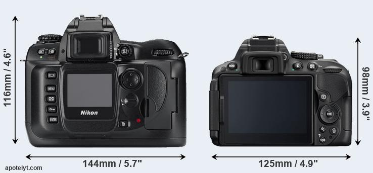 D100 and D5300 rear side