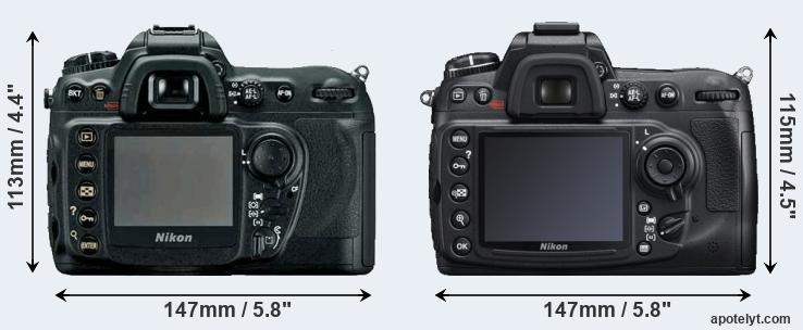 D200 and D300S rear side