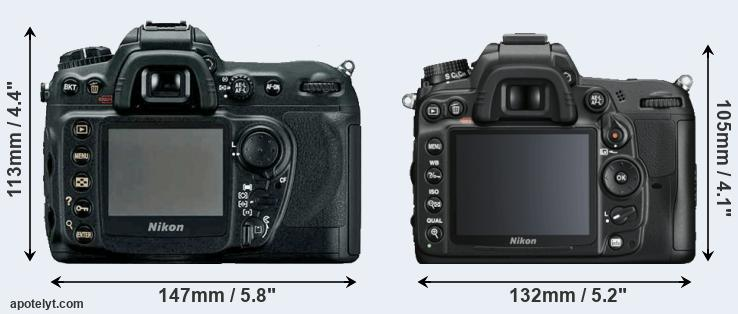 D200 and D7000 rear side