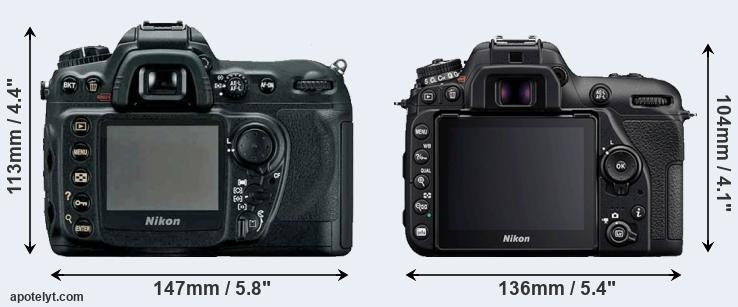D200 and D7500 rear side