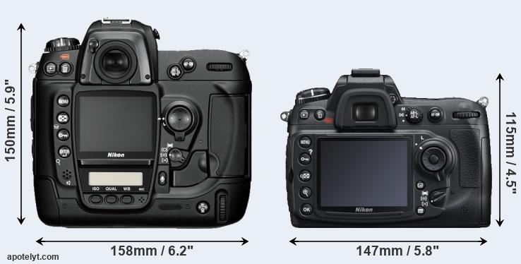 D2H and D300S rear side