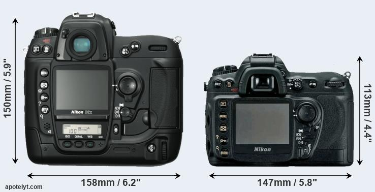 D2X and D200 rear side