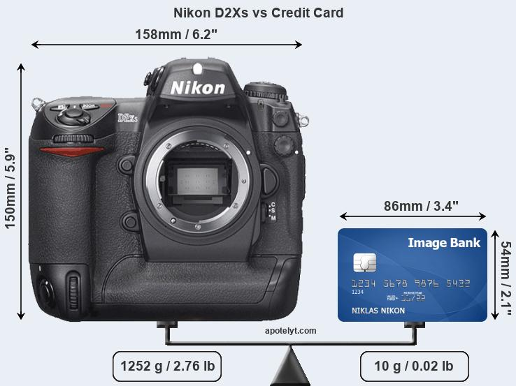 Nikon D2Xs vs credit card front