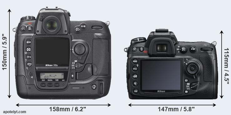 D2Xs and D300S rear side