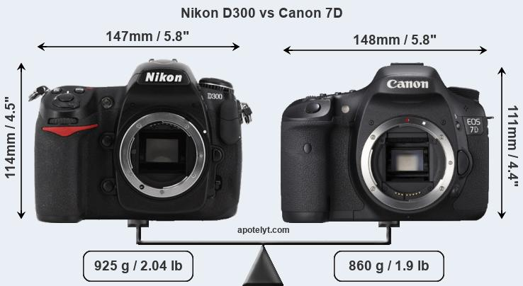 Compare Nikon D300 and Canon 7D