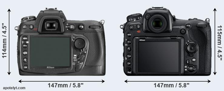 D300 and D500 rear side