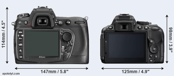 D300 and D5300 rear side