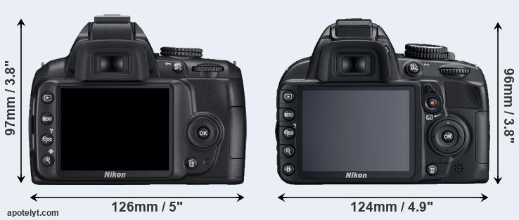 D3000 and D3100 rear side