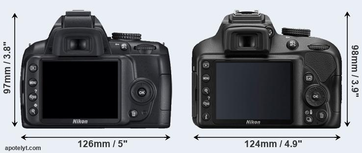 D3000 and D3400 rear side