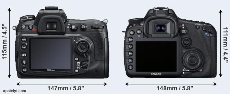 D300S and 7D rear side