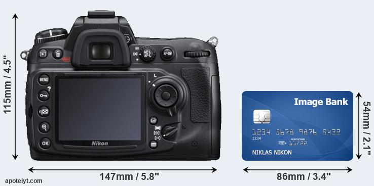 D300S and credit card rear side