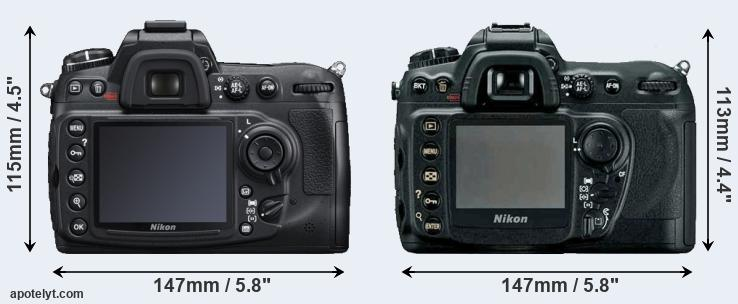 D300S and D200 rear side