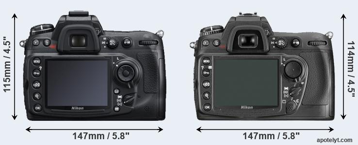 D300S and D300 rear side