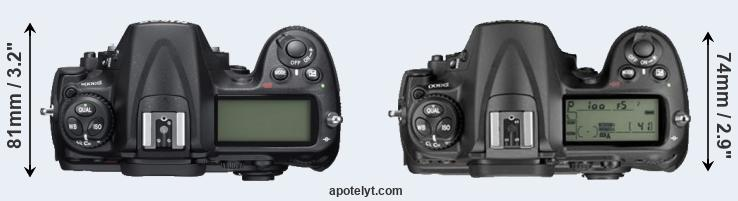 D300S versus D300 top view