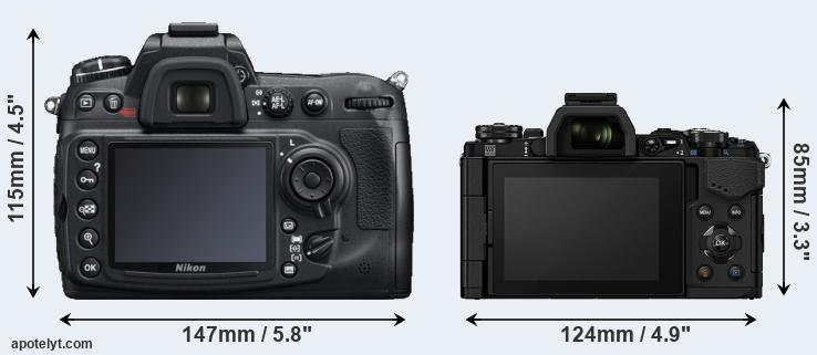 D300S and E-M5 II rear side
