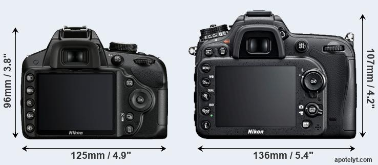 D3200 and D7100 rear side