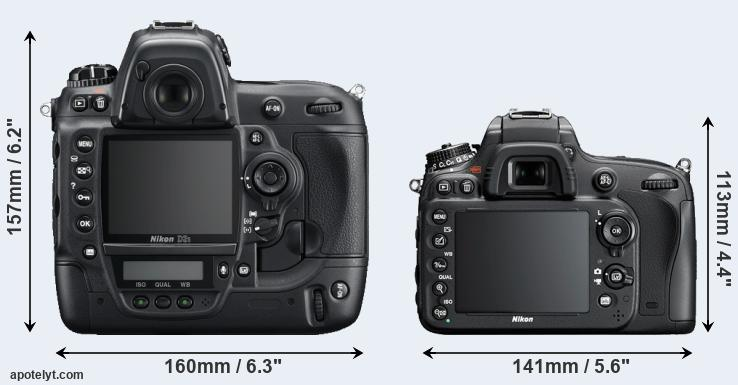 D3S and D600 rear side