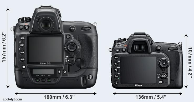 D3S and D7100 rear side