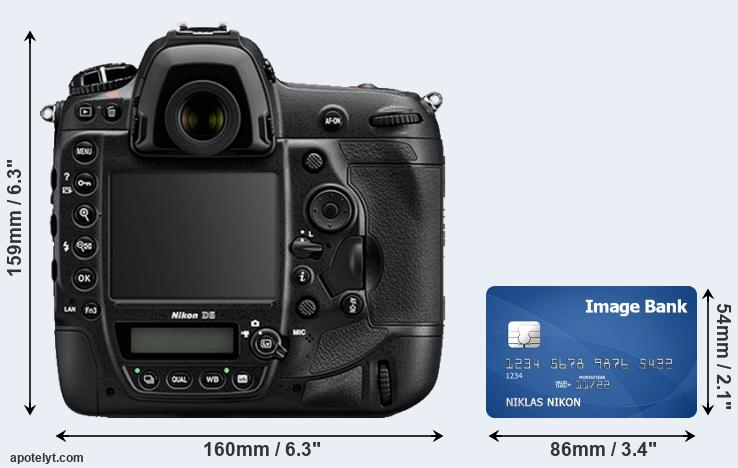 D5 and credit card rear side