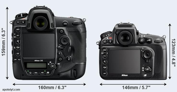D5 and D800 rear side