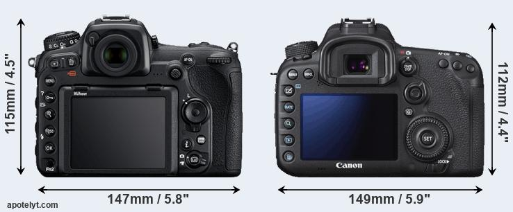 D500 and 7D Mark II rear side