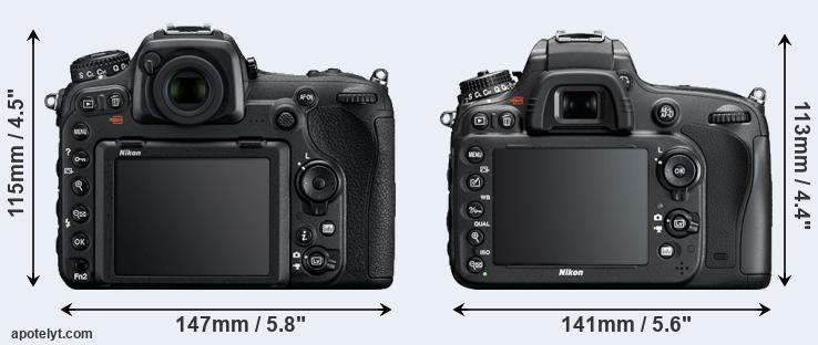 D500 and D610 rear side