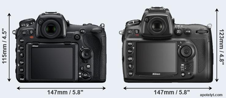D500 and D700 rear side