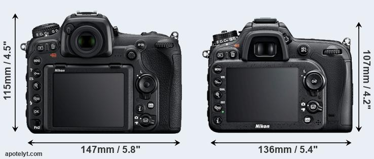 D500 and D7100 rear side