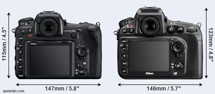 D500 and D800 rear side