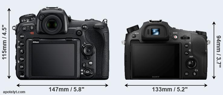 D500 and RX10 IV rear side