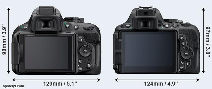 D5200 and D5500 rear side