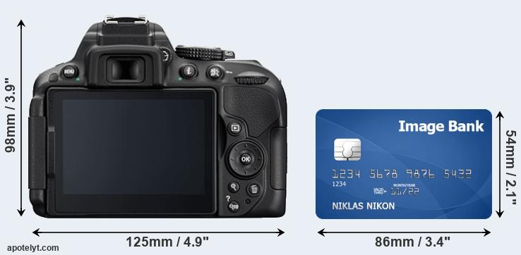 D5300 and credit card rear side