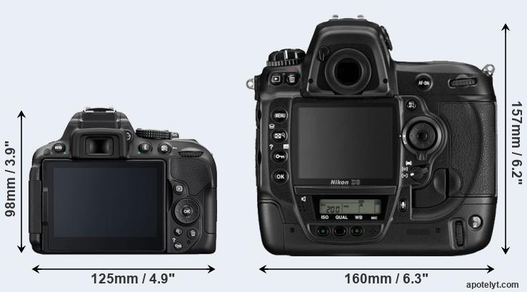 D5300 and D3 rear side