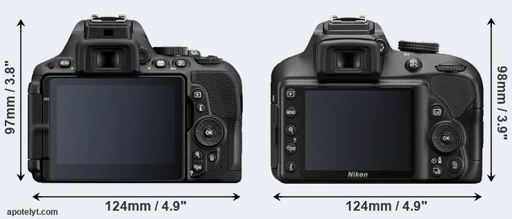 D5500 and D3400 rear side