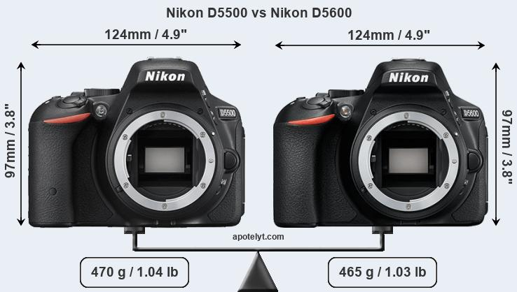 Nikon D5500 and Nikon D5600 sensor measures